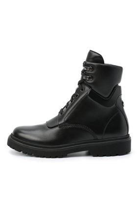 Женские кожаные ботинки patty MONCLER черного цвета, арт. F2-09B-4F705-00-019FA | Фото 3