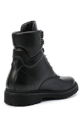 Женские кожаные ботинки patty MONCLER черного цвета, арт. F2-09B-4F705-00-019FA | Фото 4