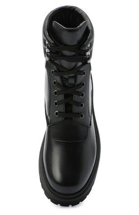 Женские кожаные ботинки patty MONCLER черного цвета, арт. F2-09B-4F705-00-019FA | Фото 5
