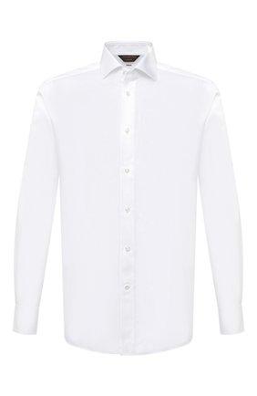 Мужская хлопковая сорочка ZEGNA COUTURE белого цвета, арт. 802010/9NS0LB | Фото 1