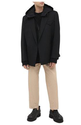 Мужские кожаные слипоны BOTTEGA VENETA черного цвета, арт. 632514/VBP80 | Фото 2