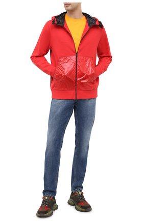 Мужская комбинированная толстовка 5 moncler craig green MONCLER GENIUS красного цвета, арт. F2-09H-8G503-10-V8177 | Фото 2