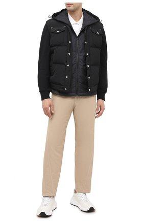 Мужская комбинированная куртка 7 moncler fragment hiroshi fujiwara MONCLER GENIUS черного цвета, арт. F2-09U-8G710-10-809F4 | Фото 2