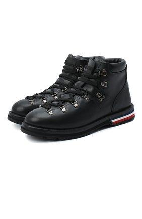 Мужские кожаные ботинки peak MONCLER черного цвета, арт. F2-09A-4G700-00-02SGR | Фото 1 (Подошва: Плоская; Материал внешний: Кожа; Материал внутренний: Натуральная кожа; Мужское Кросс-КТ: Хайкеры-обувь, Ботинки-обувь)