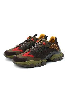 Мужские комбинированные кроссовки leave no trace MONCLER разноцветного цвета, арт. F2-09A-4M701-00-02SH6 | Фото 1