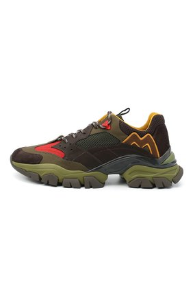 Мужские комбинированные кроссовки leave no trace MONCLER разноцветного цвета, арт. F2-09A-4M701-00-02SH6   Фото 3 (Материал внешний: Кожа; Материал внутренний: Натуральная кожа, Текстиль; Стили: Гранж; Подошва: Массивная)