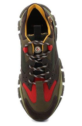 Мужские комбинированные кроссовки leave no trace MONCLER разноцветного цвета, арт. F2-09A-4M701-00-02SH6   Фото 5 (Материал внешний: Кожа; Материал внутренний: Натуральная кожа, Текстиль; Стили: Гранж; Подошва: Массивная)