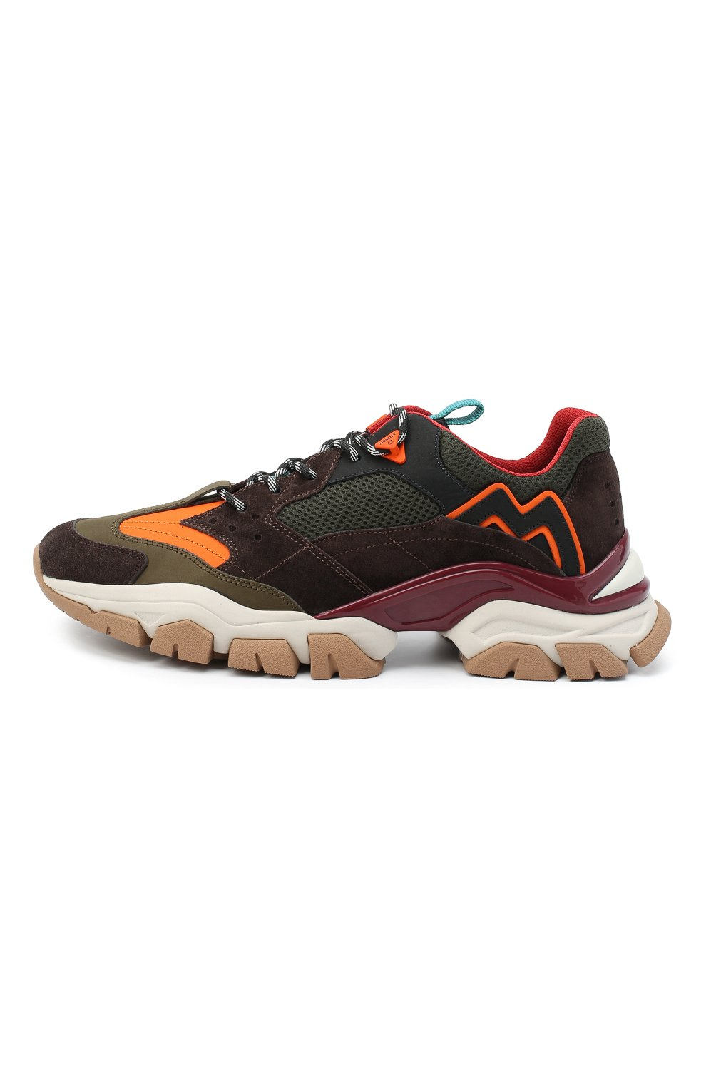 Мужские комбинированные кроссовки leave no trace MONCLER разноцветного цвета, арт. F2-09A-4M701-00-02SH9   Фото 3 (Материал внешний: Кожа; Материал внутренний: Натуральная кожа, Текстиль; Стили: Гранж; Подошва: Массивная)