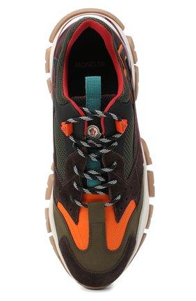 Мужские комбинированные кроссовки leave no trace MONCLER разноцветного цвета, арт. F2-09A-4M701-00-02SH9   Фото 5 (Материал внешний: Кожа; Материал внутренний: Натуральная кожа, Текстиль; Стили: Гранж; Подошва: Массивная)