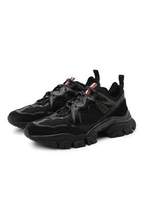 Мужские комбинированные кроссовки leave no trace MONCLER черного цвета, арт. F2-09A-4M703-40-02SH4 | Фото 1 (Подошва: Массивная; Материал внутренний: Натуральная кожа; Стили: Гранж)