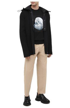Мужские комбинированные кроссовки leave no trace MONCLER черного цвета, арт. F2-09A-4M703-40-02SH4 | Фото 2 (Подошва: Массивная; Материал внутренний: Натуральная кожа; Стили: Гранж)