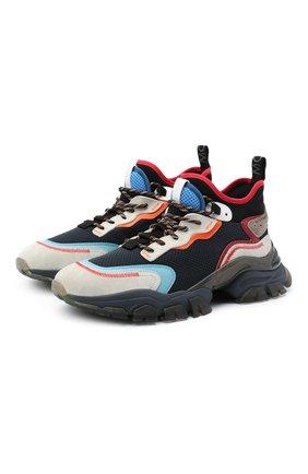 Мужские комбинированные кроссовки leave no trace MONCLER темно-синего цвета, арт. F2-09A-4M726-00-02SHQ | Фото 1