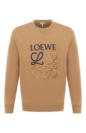 Мужской хлопковый свитшот LOEWE бежевого цвета, арт. H526341XA1 | Фото 1