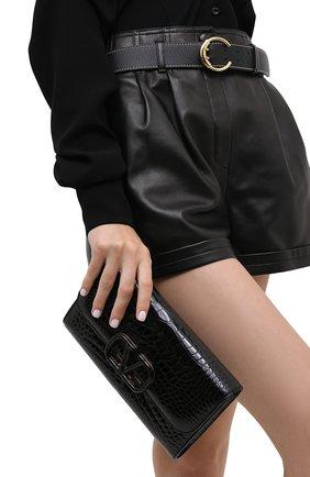 Женский клатч valentino garavani из кожи аллигатора VALENTINO черного цвета, арт. UW2B0H28/XDE/AMIS | Фото 2