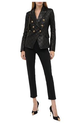 Женские замшевые туфли ALEXANDER MCQUEEN черного цвета, арт. 633501/WHR73 | Фото 2 (Подошва: Плоская; Материал внутренний: Натуральная кожа; Каблук высота: Высокий; Каблук тип: Шпилька; Материал внешний: Замша, Кожа)