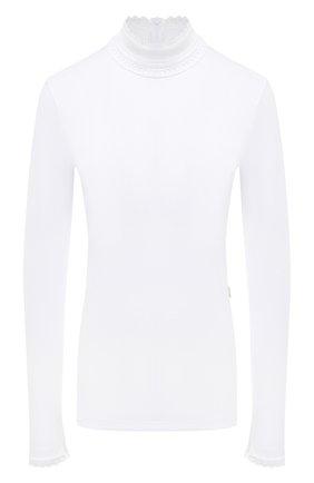 Женская хлопковая водолазка CHLOÉ белого цвета, арт. CHC20AJH85288   Фото 1