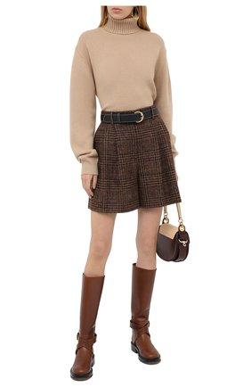 Женский кашемировый свитер CHLOÉ бежевого цвета, арт. CHC20AMP90500   Фото 2