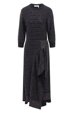 Женское шерстяное платье CHLOÉ темно-синего цвета, арт. CHC20AMR51680 | Фото 1