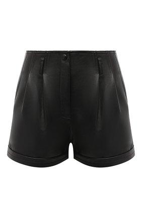 Женские кожаные шорты SAINT LAURENT черного цвета, арт. 630200/YC2ZZ | Фото 1