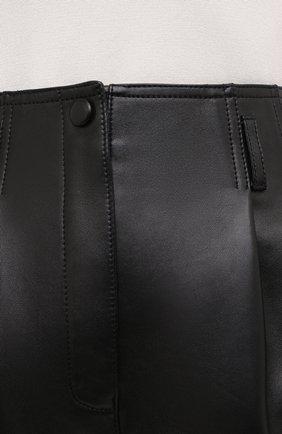 Женские кожаные шорты SAINT LAURENT черного цвета, арт. 630200/YC2ZZ | Фото 6