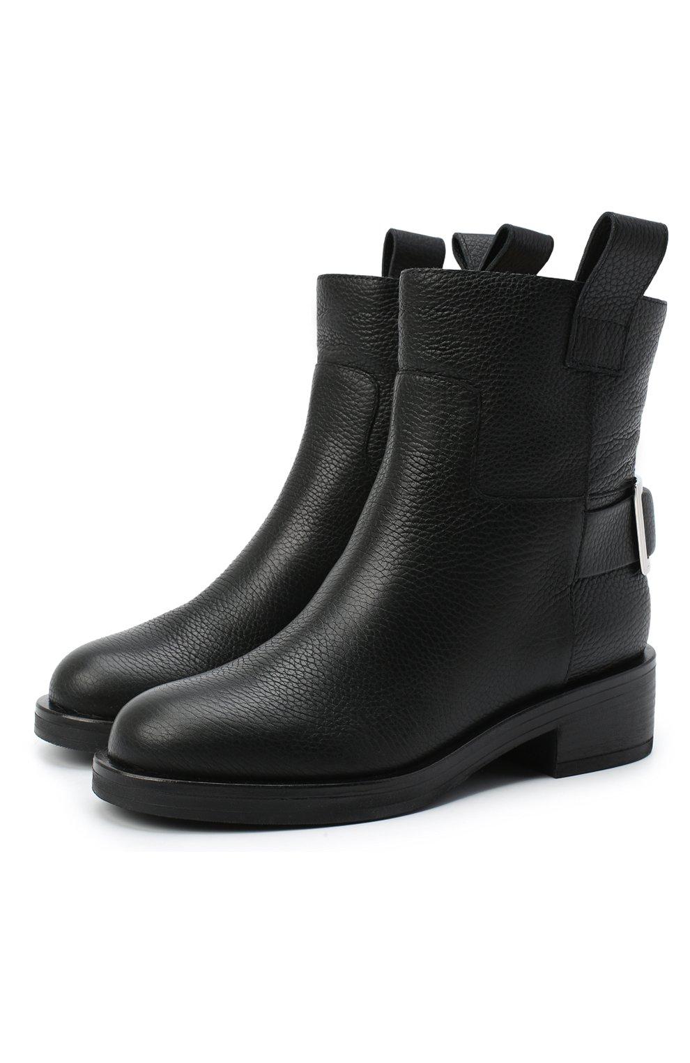 Женские кожаные ботинки SERGIO ROSSI черного цвета, арт. A91870-MMVR13 | Фото 1
