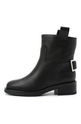 Женские кожаные ботинки SERGIO ROSSI черного цвета, арт. A91870-MMVR13 | Фото 3