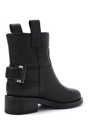 Женские кожаные ботинки SERGIO ROSSI черного цвета, арт. A91870-MMVR13 | Фото 4
