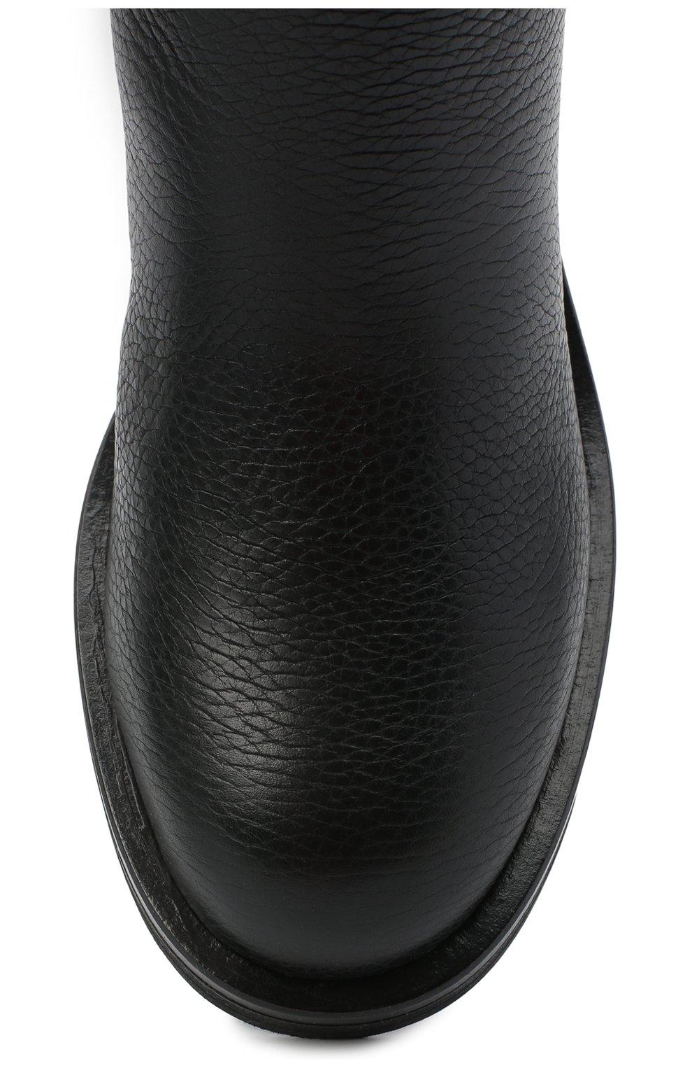 Женские кожаные ботинки SERGIO ROSSI черного цвета, арт. A91870-MMVR13 | Фото 5