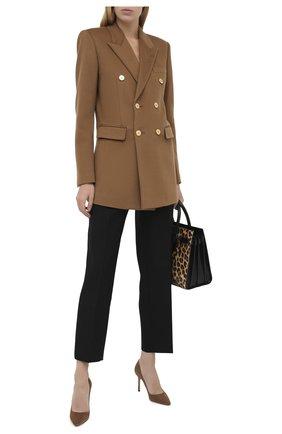 Женская замшевые туфли romy 85 JIMMY CHOO коричневого цвета, арт. R0MY 85/SUE | Фото 2