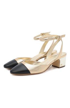 Женская кожаные туфли brie MICHAEL MICHAEL KORS золотого цвета, арт. 40T0BIMS1M   Фото 1