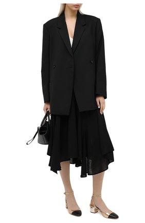 Женская кожаные туфли brie MICHAEL MICHAEL KORS золотого цвета, арт. 40T0BIMS1M   Фото 2