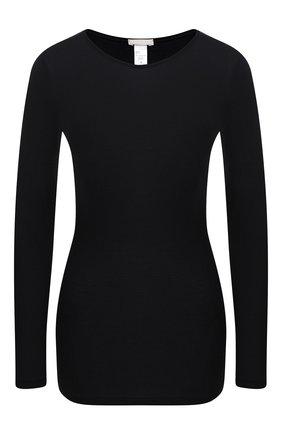 Женская хлопковый лонгслив HANRO черного цвета, арт. 071259 | Фото 1