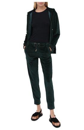 Женская хлопковый лонгслив HANRO черного цвета, арт. 071259 | Фото 2