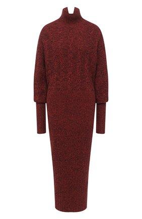 Женское платье из шерсти и хлопка KENZO бордового цвета, арт. FA62R05103AA | Фото 1