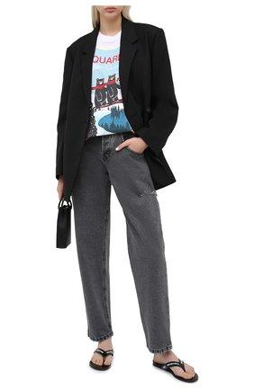 Женские джинсы FORTE DEI MARMI COUTURE серого цвета, арт. 20WF7072 | Фото 2