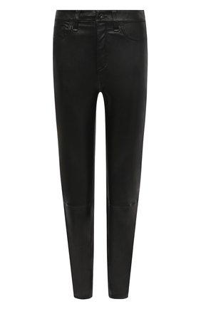 Женские кожаные брюки RAG&BONE черного цвета, арт. WAW19F70483448 | Фото 1