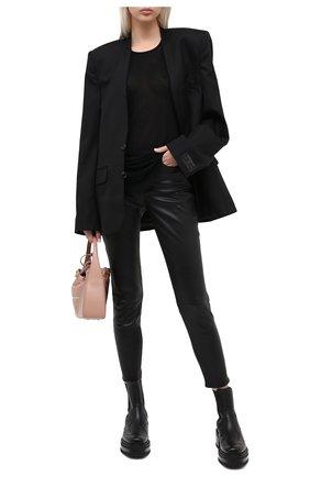 Женские кожаные брюки RAG&BONE черного цвета, арт. WAW19F70483448 | Фото 2