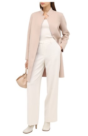 Женское пальто из шерсти и кашемира MANZONI24 светло-розового цвета, арт. 20M557-DB1/38-46 | Фото 3
