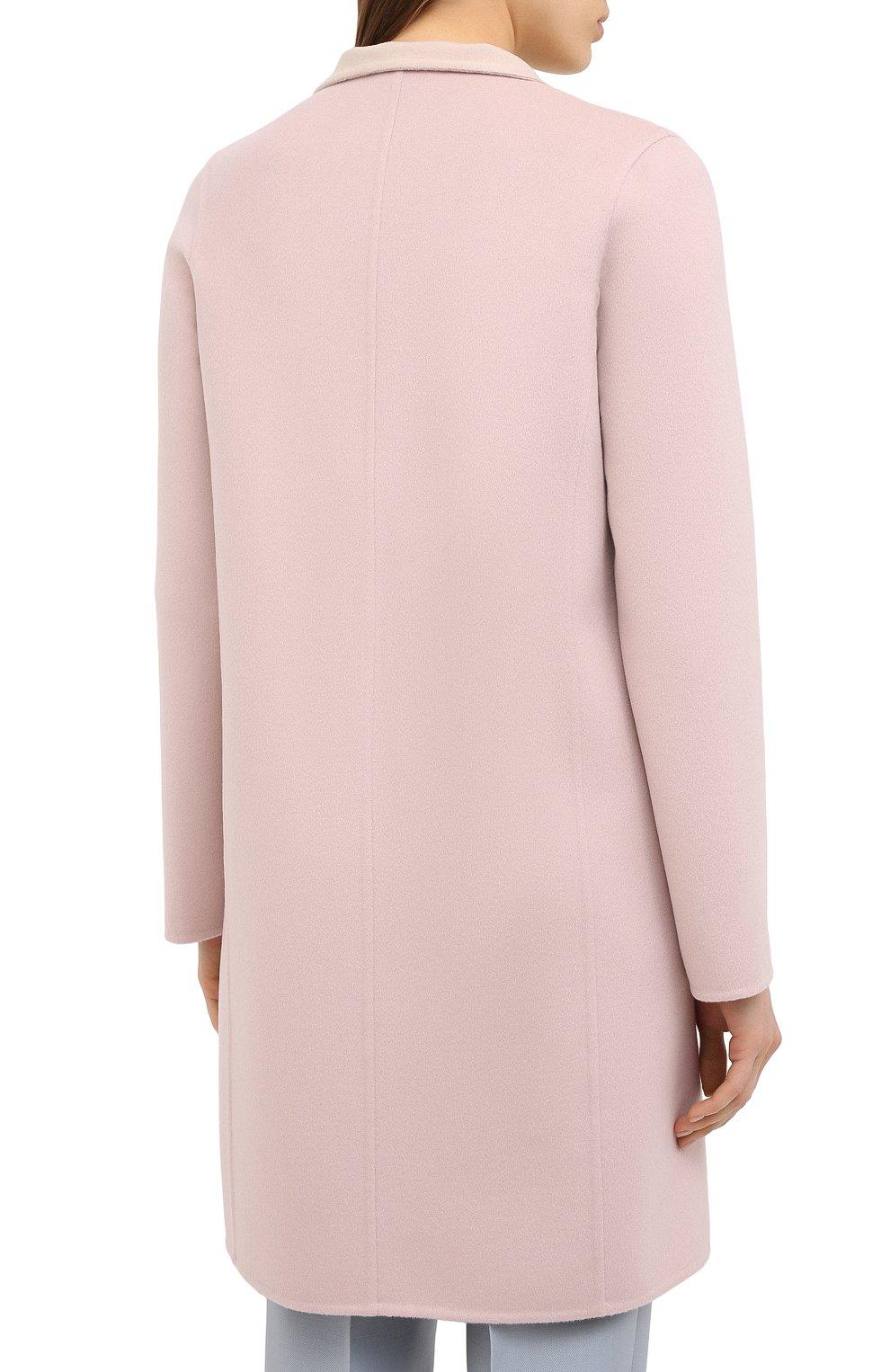 Женское пальто из шерсти и кашемира MANZONI24 светло-розового цвета, арт. 20M557-DB1/38-46 | Фото 5