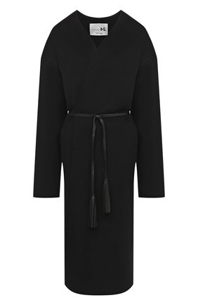 Женское пальто из шерсти и кашемира MANZONI24 черного цвета, арт. 20M742-DB1L8/38-46 | Фото 1