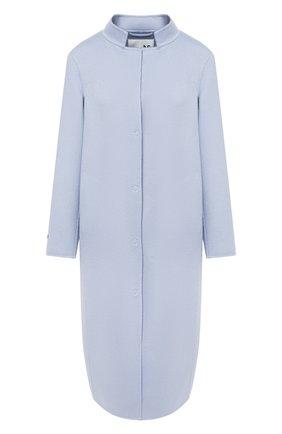 Женское кашемировое пальто MANZONI24 голубого цвета, арт. 20M965-WS1/38-46 | Фото 1