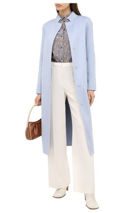 Женское кашемировое пальто MANZONI24 голубого цвета, арт. 20M965-WS1/38-46 | Фото 2