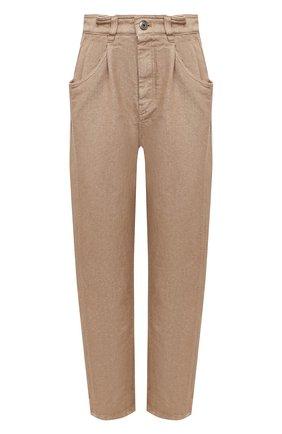 Женские джинсы BRUNELLO CUCINELLI золотого цвета, арт. MA176P5597 | Фото 1