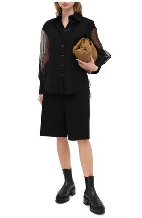 Женская шелковая блузка BRUNELLO CUCINELLI черного цвета, арт. MF940MW906   Фото 2