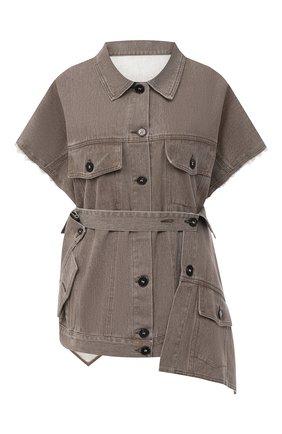 Женский джинсовый жилет RUBAN коричневого цвета, арт. RSO20-4.1.410.16   Фото 1