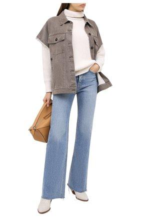 Женский джинсовый жилет RUBAN коричневого цвета, арт. RSO20-4.1.410.16   Фото 2