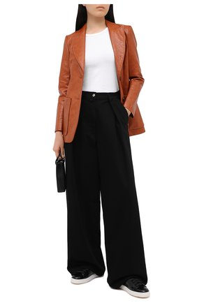Женские кожаные кеды SANTONI черного цвета, арт. WBCE60442BARRIIHN01   Фото 2