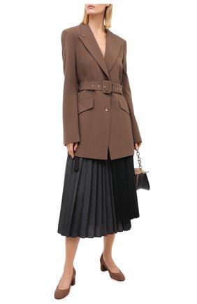Женская замшевые туфли SANTONI светло-коричневого цвета, арт. WDLA58930HA2NMGDM60   Фото 2