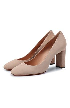 Женская замшевые туфли SANTONI светло-розового цвета, арт. WDLE58931HA2NMGDP14 | Фото 1