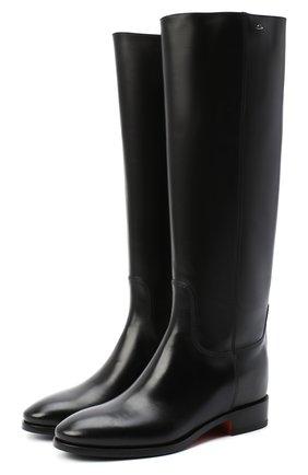 Женские сапоги SANTONI черного цвета, арт. WSNH58900BJ2NBCKN01   Фото 1